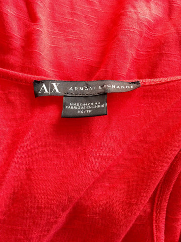 BRAND NEW ARMANI EXCHANGE RED & GOLD BEADED VEST TOP SIZE XS