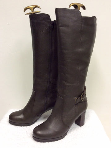 BRAND NEW NATURALIZER BROWN FUR LINED BOOTS SIZE 6.5/40 - Whispers Dress Agency - Womens Boots - 3