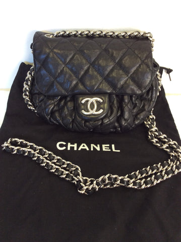 070cc5215433 CHANEL BLACK LEATHER QUILTED SMALL CHAIN STRAP CROSS BODY BAG - Whispers  Dress Agency - Shoulder ...