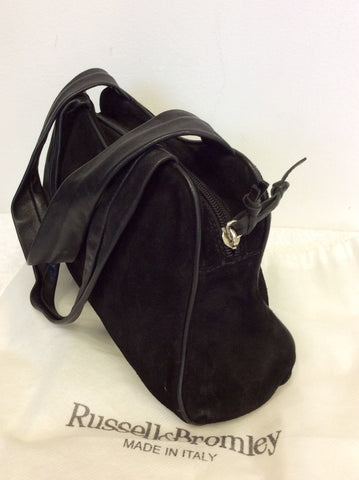 RUSSELL & BROMLEY BLACK SUEDE & LEATHER SHOULDER BAG - Whispers Dress Agency - Sold - 4