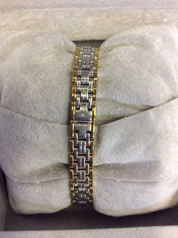 LONGINES LADIES PRESENCE POLISHED STEEL & GOLD PLATED BRACELET WRISTWATCH - Whispers Dress Agency - Womens Jewellery - 3