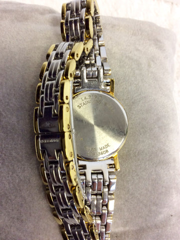 LONGINES LADIES PRESENCE POLISHED STEEL & GOLD PLATED BRACELET WRISTWATCH - Whispers Dress Agency - Womens Jewellery - 4