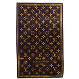 100% AUTHENTIC LOUIS VUITTON BROWN CLASSIC LUXURY MONOGRAM TOWEL - Whispers Dress Agency - Sold - 4