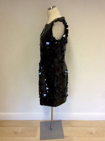 BRAND NEW HOBBS BLACK SEQUINNED COCKTAIL DRESS SIZE 14 - Whispers Dress Agency - Womens Dresses - 2