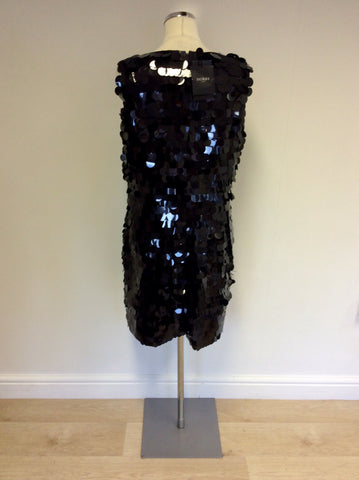 BRAND NEW HOBBS BLACK SEQUINNED COCKTAIL DRESS SIZE 14 - Whispers Dress Agency - Womens Dresses - 3