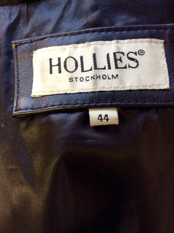 HOLLIES STOCKHOLM BLACK LEATHER & RABBIT FUR GILET SIZE 44 UK 16 - Whispers Dress Agency - Womens Gilets & Body Warmers - 8