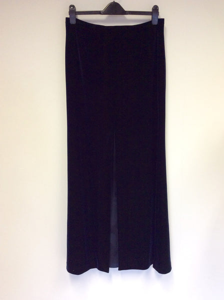 ARMANI COLLEZIONI DARK BLUE VELVET EVENING SKIRT SIZE 46 UK 14 - Whispers Dress Agency - Womens Skirts - 1