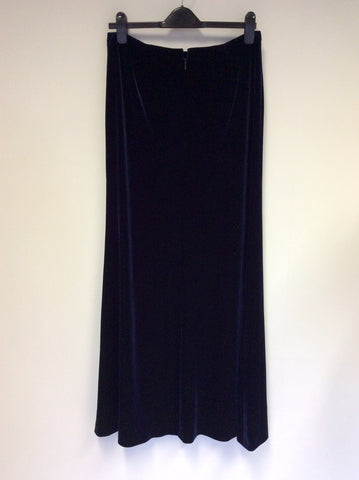 ARMANI COLLEZIONI DARK BLUE VELVET EVENING SKIRT SIZE 46 UK 14 - Whispers Dress Agency - Womens Skirts - 2