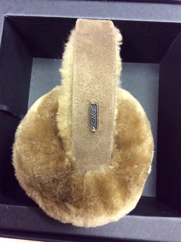 BRAND NEW IN BOX EMU AUSTALIA TOFFEE SHEEPSKIN EAR MUFFS - Whispers Dress Agency - Womens Other Accessories - 2