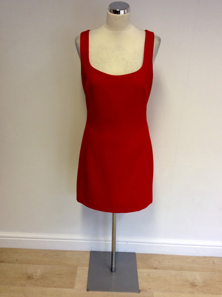 ARMANI EXCHANGE RED SHIFT DRESS SIZE 16 - Whispers Dress Agency - Womens Dresses - 1