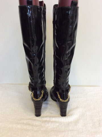 BRAND NEW BRONX DARK GREEN PATENT LEATHER BOOTS SIZE 3.5/36