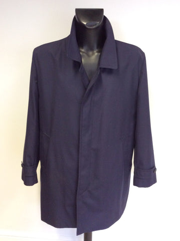 DRIWAY NAVY BLUE SHOWER RESIST MAC/ JACKET SIZE L