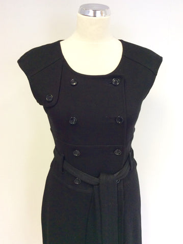 BANANA REPUBLIC BLACK WRAP AROUND TIE BELT DRESS SIZE 10
