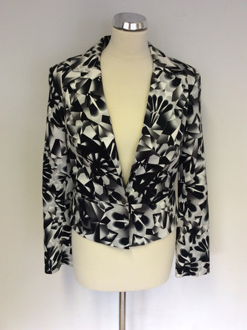 BRAND NEW STAR BY JULIEN MACDONALD BLACK,GREY & WHITE PRINT JACKET SIZE 10