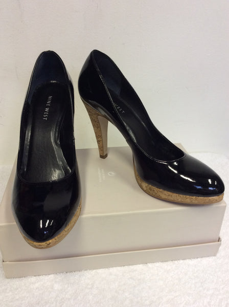 BRAND NEW NINE WEST BLACK PATENT HEELS SIZE US 6.5/ UK 4