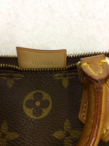 LOUIS VUITTON BROWN MONOGRAM MINI SPEEDY BAG WITH PADLOCK