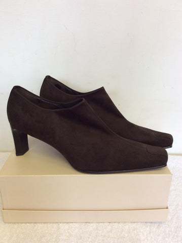 BRAND NEW GABOR BROWN SUEDE HEELS SIZE 8/42