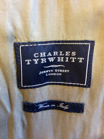 CHARLES TYRWHITT CHARCOAL GREY WOOL & CASHMERE MILITARY STYLE COAT SIZE 42 REG