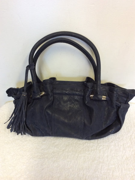 BULAGGI DARK BLUE LEATHER HAND / SHOULDER BAG