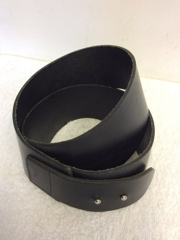 BETTY JACKSON FOR AUTOGRAPH BY MARKS & SPENCER BLACK WIDE LEATHER BELT SIZE S/M