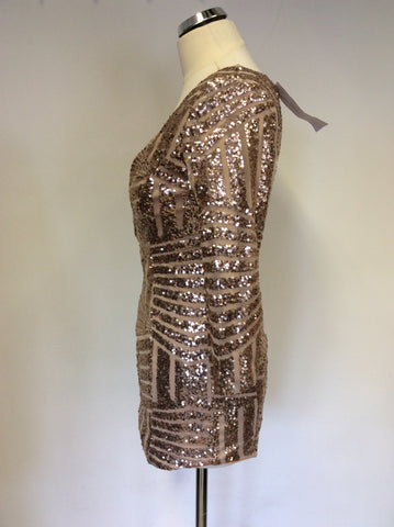 BRAND NEW HOUSE OF SHB GOLD SEQUINNED TOP SIZE S