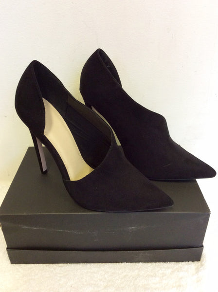 BRAND NEW ASOS BLACK FAUX SUEDE HIGH HEEL SHOE/BOOTS SIZE 7/40
