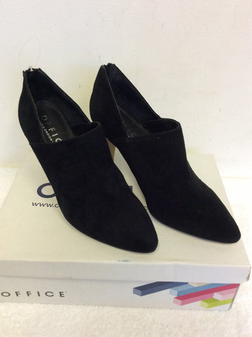 BRAND NEW OFFICE BLACK SUEDE FAITHFUL DRESSY SHOE BOOT SIZE 5/38