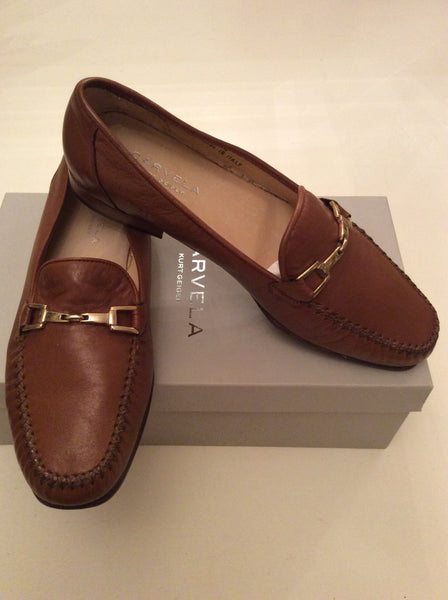BRAND NEW CARVELA MARINER TAN BROWN LEATHER LOAFERS SIZE 5/38