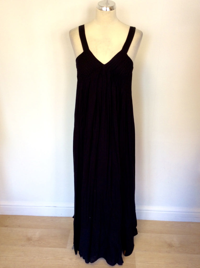 Chelsea Theodore Black Cotton Maxi Dress Size S Whispers Dress