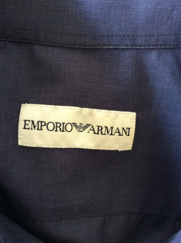 EMPORIO ARMANI CHARCOALSLIM FIT LONG SLEEVE SHIRT SIZE S