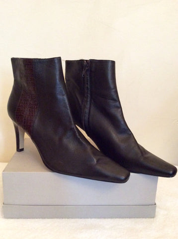 Brand New Marks & Spencer Brown Ankle Boots Size 7/40.5 - Whispers Dress Agency - Womens Boots - 1