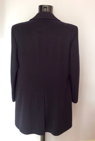 Marks & Spencer Black Wool Double Breasted Coat Size 44 - Whispers Dress Agency - Mens Coats & Jackets - 3