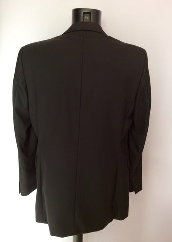 Austin Reed Kensington Black Pinstripe Wool Suit Size 40L/34L - Whispers Dress Agency - Mens Suits & Tailoring - 3