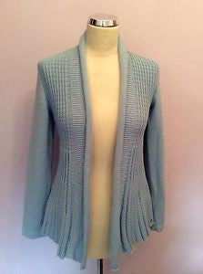 Betty Barclay Blue Cotton Cardigan Size 10 - Whispers Dress Agency - Sold - 1