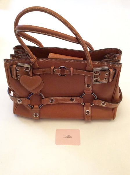 1e1ceb7f713b Luella Tan Leather Gisele Tote Bag - Whispers Dress Agency - Handbags - 1