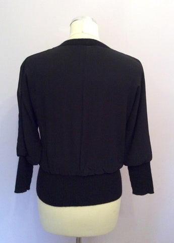 BANANA REPUBLIC LUXURIOUS BLACK SILK & CASHMERE LINED BOMBER JACKET SIZE XS - Whispers Dress Agency - Womens Coats & Jackets - 3