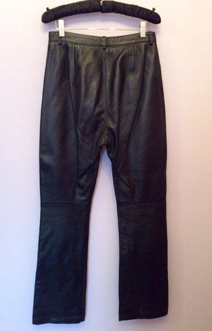 BLACK SOFT LEATHER TROUSERS SIZE 10 - Whispers Dress Agency - Womens Trousers - 2