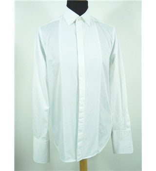 "Brand New Jaeger White Dress Double Cuff Shirt Size 16.5"" - Whispers Dress Agency - Sold - 3"