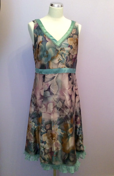 Per Una Speziale Floral Print Silk Dress Size 12 - Whispers Dress Agency - Womens Dresses - 1