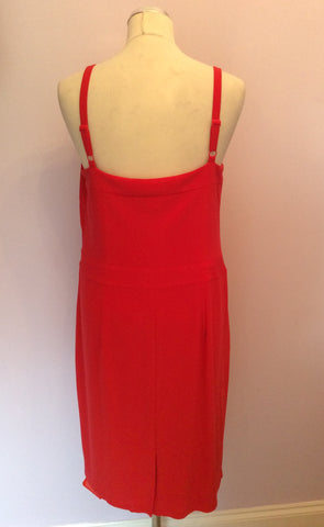 Brand New Holly Willoughby Red Dress Size 16 - Whispers Dress Agency - Womens Dresses - 3