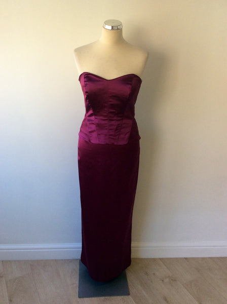 9656516519ad COAST CRANBERRY BUSTIER TOP & LONG EVENING SKIRT SIZE 10 - Whispers Dress  Agency - Womens