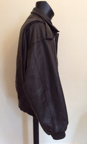 "The Pilot Dark Brown Leather Pilot Jacket Size 54 UK 44"" - Whispers Dress Agency - Mens Coats & Jackets - 4"