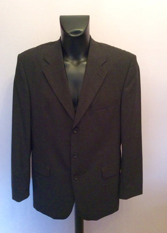 Hugo Boss Charcoal Grey Wool Suit Jacket Size 42 - Whispers Dress Agency - Mens Suits & Tailoring - 1
