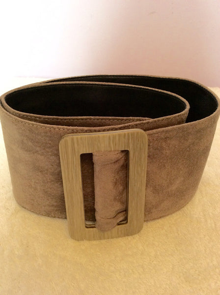 "Vintage Jaeger Mink Beige 3.5 Inch Suede Belt Size 28"" - Whispers Dress Agency - Sold - 1"