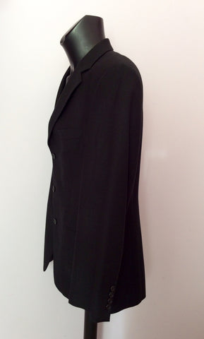 DESCH BLACK WOOL & CASHMERE SUIT JACKET SIZE 42R - Whispers Dress Agency - Mens Suits & Tailoring - 3