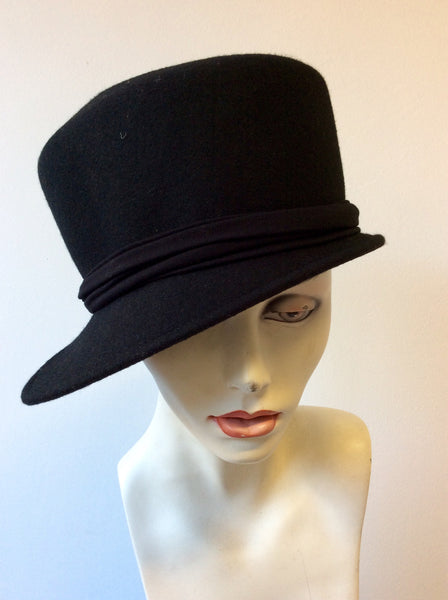 BITTE KAI RAND BLACK WOOL HAT - Whispers Dress Agency - Womens Formal Hats & Fascinators - 1