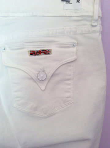 HUDSON WHITE 'BETH' BABY BOOT LEG JEANS SIZE 32W/33L - Whispers Dress Agency - Womens Jeans - 3