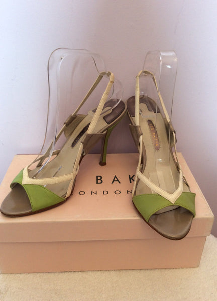 Ted Baker Lime Green, White & Grey Strappy Sandals Size 5/38 - Whispers Dress Agency - Sold - 1