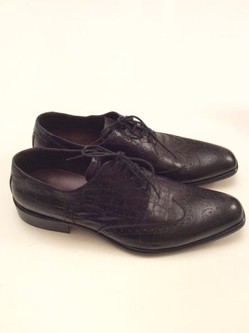 Smart Pat Calvin Italian Leather Lace Up Shoes Size 7/41 - Whispers Dress Agency - Mens Formal Shoes - 3