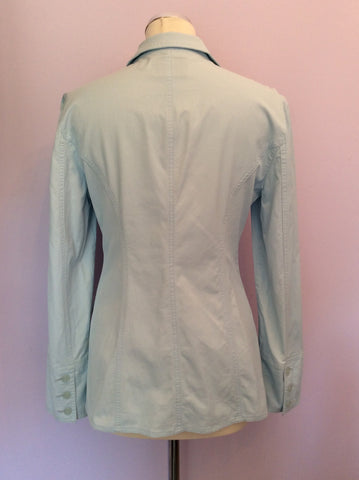 Armani Jeans Light Blue Jacket Size 14 - Whispers Dress Agency - Womens Coats & Jackets - 3